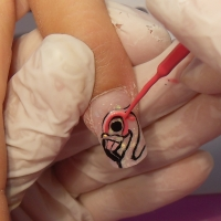 Nail Art Animali il Fenicottero